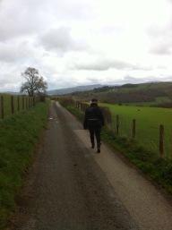 wandelend door Wales