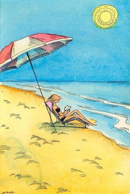 zomerzon en heerlijk lezen