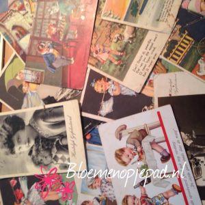 vintage, kaartje schrijven