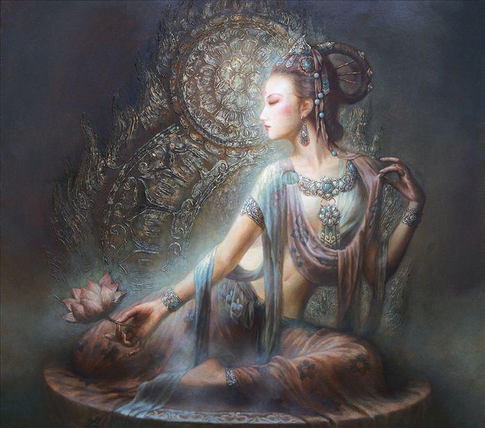 goddesses, bodhisattva of compassion, bringers of good fortune.
