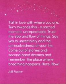Jeff Foster, bijzonder!