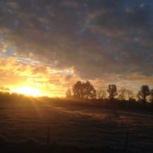 Magische zonsopgang.