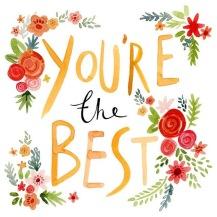 Je bent de beste!